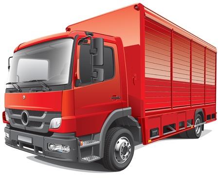 Detail beeld van compacte bestelwagen, geïsoleerd op een witte achtergrond. Bestand bevat verlopen en transparantie. Geen blends en beroertes.