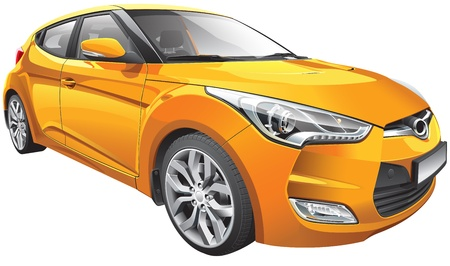 Detail vector image of Korean hot hatch Ilustracja