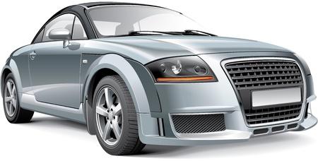 Alemania compacto coupé deportivo, aislado en fondo blanco Foto de archivo - 21917727