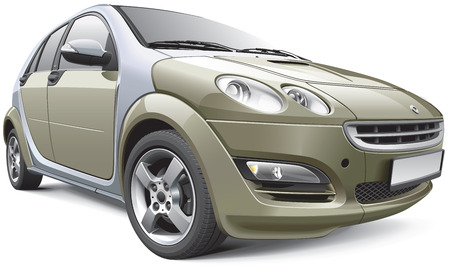 hatchback: Detail vector image of European subcompact hatchback, isolated on white File contains gradients, blends and transparency  No strokes  Easily edit  file is divided into logical layers and groups  Illustration