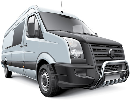 no image: Detail vector image of Germany full-size commercial vehicle, isolated on white .File contains gradients, blends and transparency  No strokes  Easily edit  file is divided into logical layers and groups  Illustration