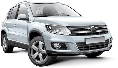 Detail beeld van Duitsland compacte crossover, geïsoleerd op een witte achtergrond Stockfoto - 26585153