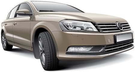 isoler: D�tail image de l'Allemagne grande voiture familiale, isol� sur fond blanc Illustration