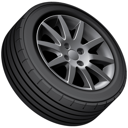 the tire: cars wheel, isolated on white background.