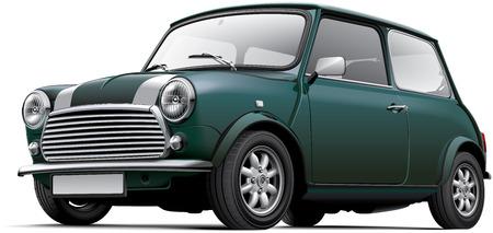 イギリスの都市車、白い背景で隔離の高品質ベクトル画像。ファイルには、グラデーション、ブレンド、透明性が含まれています。ないストローク