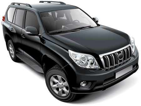 blends: High quality image of Japanese mid-size luxury SUV, isolated on white background. File contains gradients, blends and transparency. No strokes. Easily edit: file is divided into logical layers and groups. NOTE: palette contains progressive black.