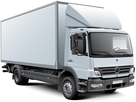 ciężarówka: Wysoka jakość obrazu wektorowego z białego Europejskiej nadwozie, na białym tle. Plik zawiera gradienty, mieszanki i przejrzystość. Brak uderzeń. Łatwa edycja: plik jest podzielony na warstwy i grup logicznych.