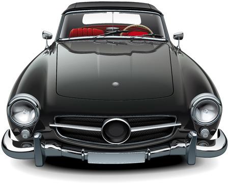 Realistische auto van hoge kwaliteit illustratie. Stock Illustratie