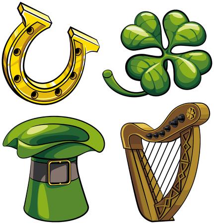 Saint patricks day symbols image illustration 向量圖像