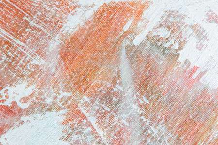 abstract colorful creative background - rough linen canvas unevenly covered with multi-colored primers, reflections of light. Toning, blur. Temporary object. Foto de archivo