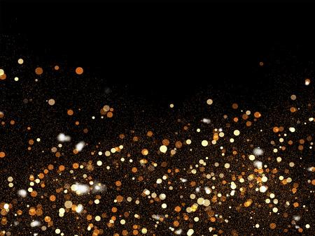 Golden Sparkling Particles