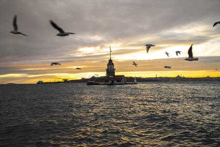 Maiden's tower. Kiz Kulesi. Istanbul symbol