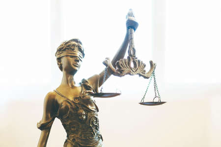 Scales of Justice symbol, legal law concept image Stockfoto