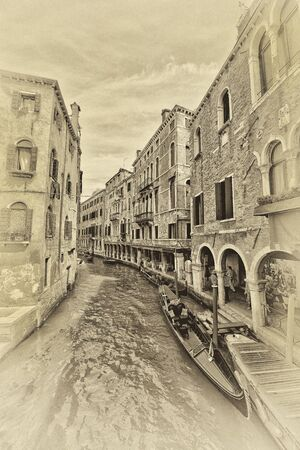 channel: Venice, internal channel with buildings