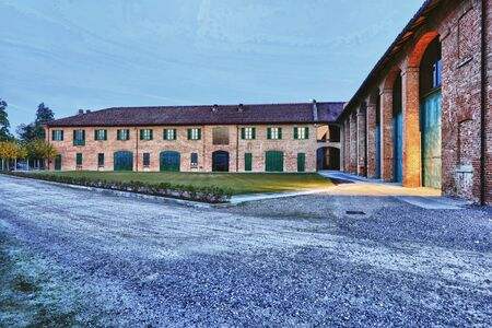farmstead: Langhe Ceretto winery Stock Photo
