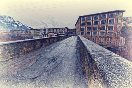 paesaggio industriale: Paesaggio industriale di montagna