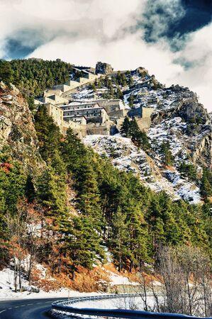 piedmont: Piedmont, Fortress Fenestrelle Stock Photo
