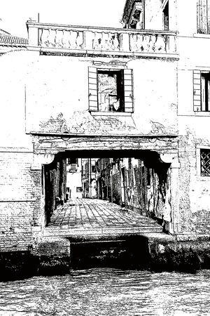 venice: Venice house with yard