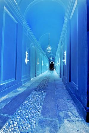 hallucination: Hallucination, blue corridor