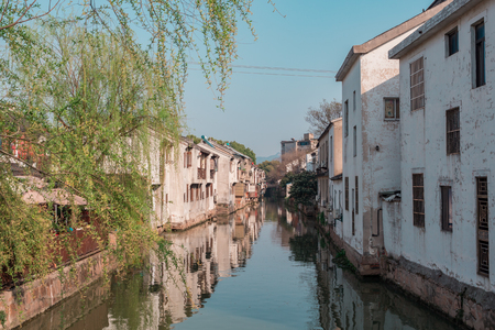 Canal in chinese watertown, historical part of city