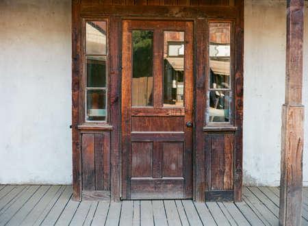 doorway: doorway from old western building Editorial