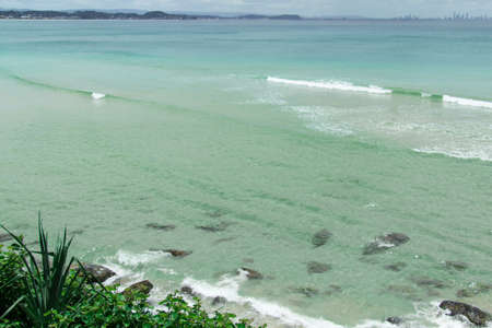 coolangatta: Raybow Beach from the top Stock Photo