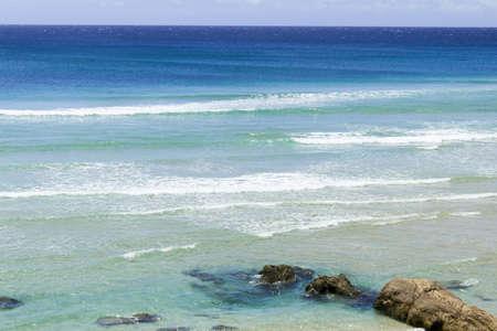 coolangatta: Immenso oceano pacifico della spiaggia di Coolangatta Stock Photo