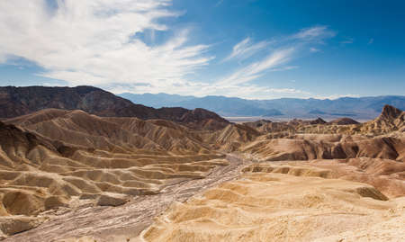 The desert of death valley under the blue sky