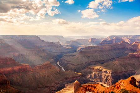 grand canyon: The grand canyon at sunset Stock Photo