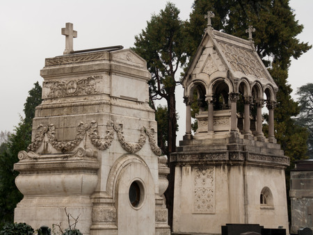 monumental cemetery: Monumental Cemetery of Turin Stock Photo