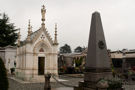 lugubrious: Monumental Cemetery of Turin Stock Photo