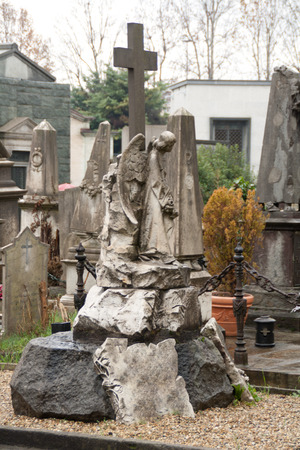 dismal: Monumental Cemetery of Turin Stock Photo