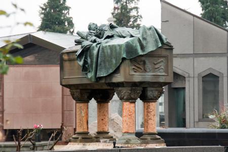esoterismo: Cementerio Monumental de Turín Foto de archivo