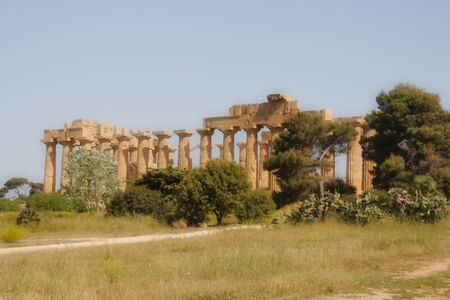 239_1_Selinunte near Trapani, Italy - April 2017_Archaeological Park of Selinunte Banque d'images