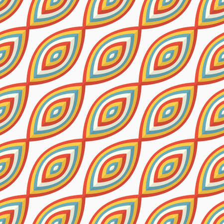Seamless vector pattern with colorful abstract shapes Illustration