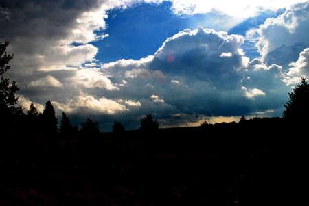 Sonnenuntergang in der L�neburger Heide Abend