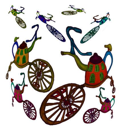 Illustration - Kettle on the wheel Illustration