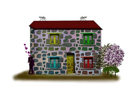 Фантастические дома-Traumhaus-иллюстрации