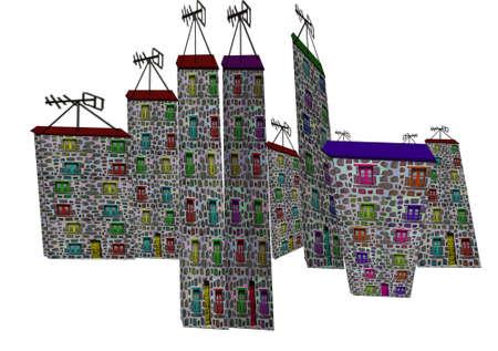 Fantastic houses7-Illustrations