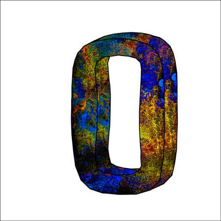 number of years 0 illustration 3d Illustration