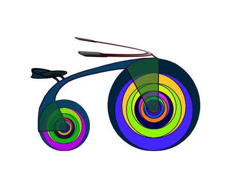 Illustration-Stylish bicycle 2014 model 2 Illustration