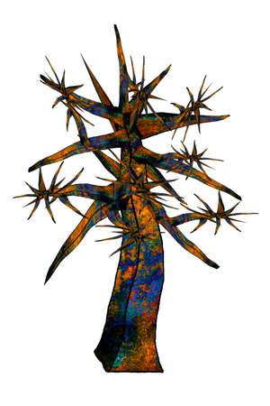 illustration metal: Illustration metal baum