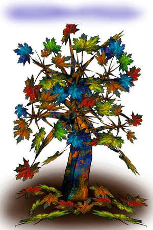 Illustration 3d maple tree