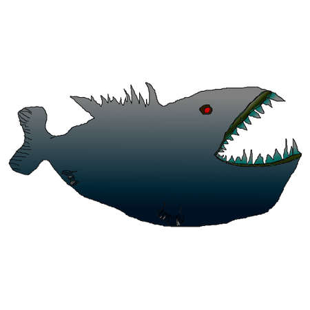 Illustration drawing sharks