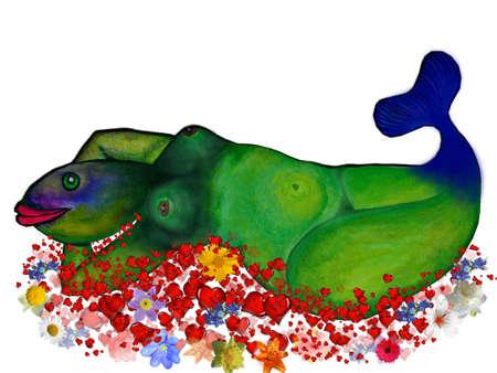 sea saw: Illustration-Mermaid