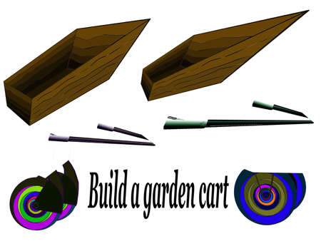 Vector-draw himself wheelbarrow Illustration