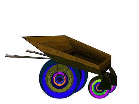 Illustration - wheelbarrow on white background