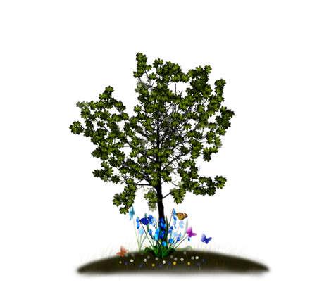 Illustration - autumn maple leaves background vector for poster