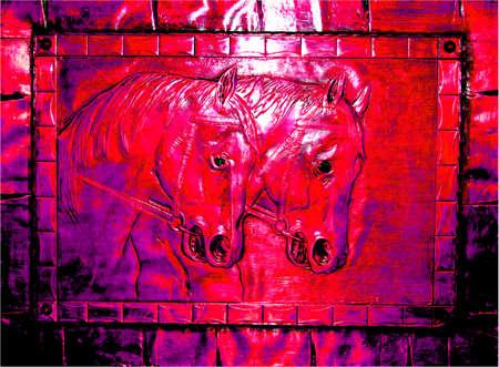 jahreswechsel: Illustrazione - Capodanno cinese del Cavallo 2014, Kalligraphie