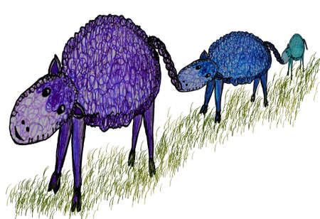 Illustration of Funny sheep Vector